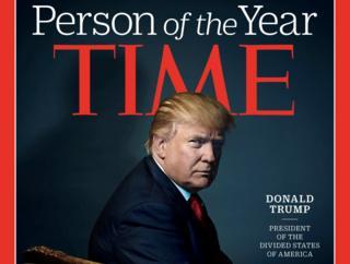 นิตยสารไทม์ปกนายโดนัลด์ ทรัมป์