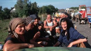 Срби беже од Олује. август 1995