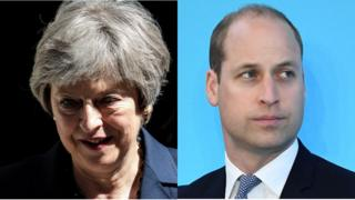 Prime Minister Theresa May and Prince William