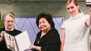 Beatrice Fihn akabidhiwa tuzo ya Nobel huko Oslo