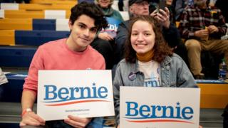 Young voters at Bernie Sanders rally