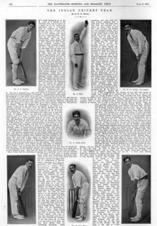 బ్రిటన్ పత్రికలో మొదటి భారత క్రికెట్ జట్టు వార్త