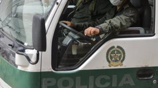 File image of Colombian police vehicle