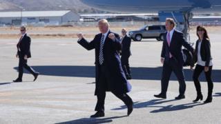 US President Donald Trump in Nevada