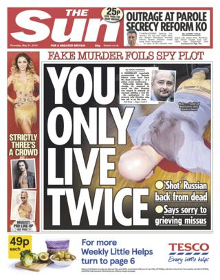 Sun front page - 31/05/18
