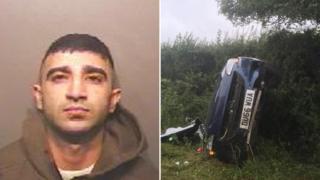 Asman Nawaz and car after crash