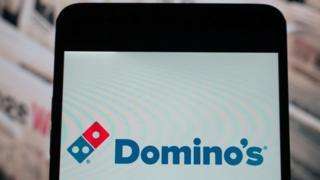 Domino's app on smartphone