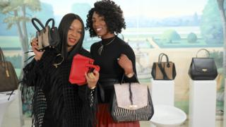 Branding consultant, Uche Pezard (left) and bag designer Aprelle Duany (Right)