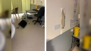 Damage at hospital