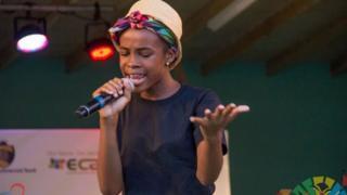 Rika Johnson performing