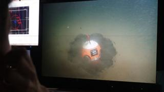 "A submersible feeds images back to the surface of a ""smart boulder"" on the seafloor"