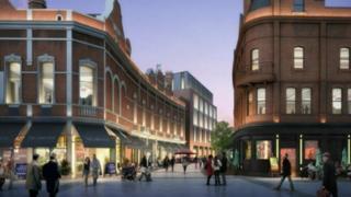 An artist's impression of the Tribeca development