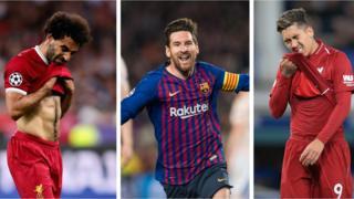 Salah, Messi ati Firmino