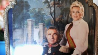 Жа Жа Габор и ее муж Фредерик фон Анхальт