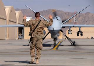 Dron de la Fuerza Aérea de EE.UU. en Afghanistán
