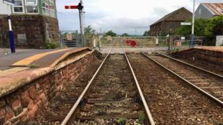 Current state of the track at Bootle station