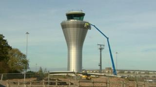 Control tower at Birmingham Airport