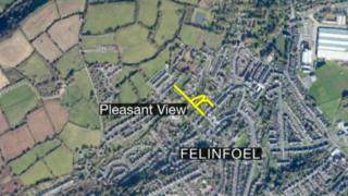 Aerial view of Felinfoel