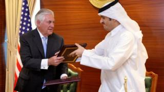 وزيرا خارجية قطر والولايات المتحدة