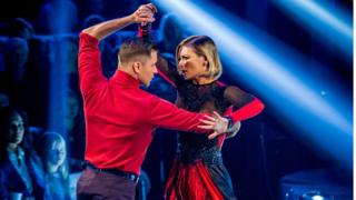 Rachel Riley and Pasha Kovalev performing together on Strictly Come Dancing.