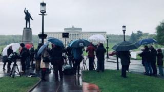 Press gathering at Stormont