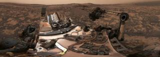 Panorama taken by Mars rover Curiosity