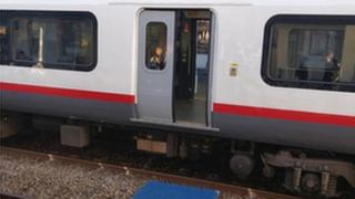 Open train door