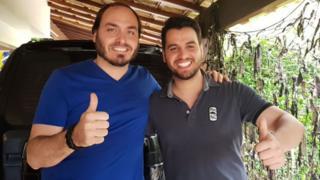 Carlos Bolsonaro e Filipe G. Martins