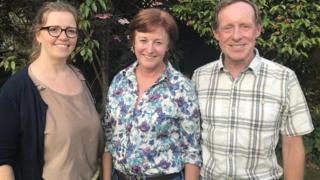 Catrin, Dana a Richard Edwards