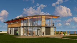 Artists impression of new water sports centre