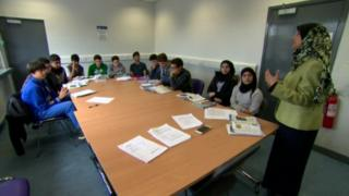 Young people studying GCSE Islamic Studies in Belfast