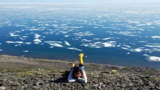 Julia on Wrangel island