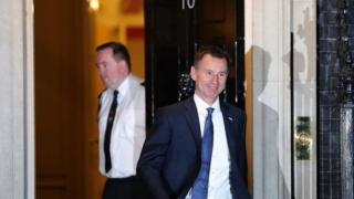 Jeremy Hunt leaves Downing Street as health secretary