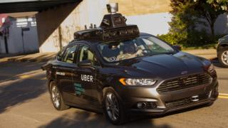 An Uber self driving car