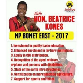 Béatrice Kones, épouse de l'ancien ministre kényan, Kipkalya Kones, a battu son fils Kipng'etich Kalya Kones