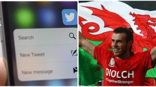Mobile phone and Gareth Bale