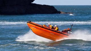 RNLI lifeboat at St Abbs