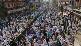 Протест в Даке