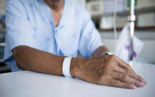 Hospital armband and drip