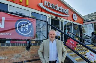 Mark Fox, chief executive of Roadchef, which runs Watford Gap