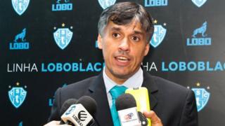 Paysandu Sport soccer club president Sergio Serra in Belem, Brazil, 17 January 2017.