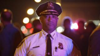 Former Baltimore police chief Anthony Batts on patrol in the city - 30 April 2015