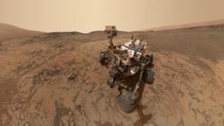 Curiosity rover selfie