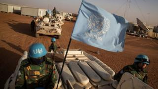 UN peacekeepers in eastern Mali (file image)
