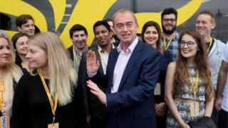 Tim Farron (Lib Dem party leader) at the start of the Lib Dem party conference