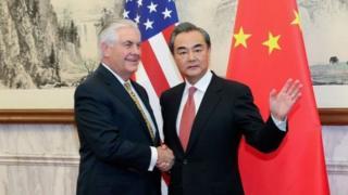 Wang Yi na Rex Tillerson