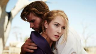 Kate Winslet with Liam Hemsworth in The Dressmaker