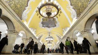 Komsomolskaya metro station was opened in 1952