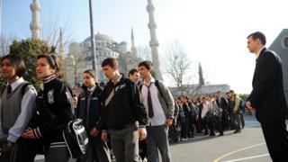 İstanbulda məktəblilər