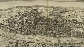 Depiction of London, 1560 - from Wren's Parentalia